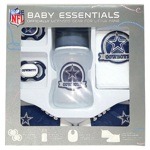 Dallas Cowboys Baby Essentials 5 Piece Infant Gift Set New