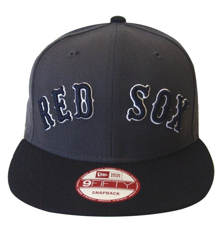 Boston Red Sox New Era Reverse Word Snapback Cap Hat Charcoal Navy