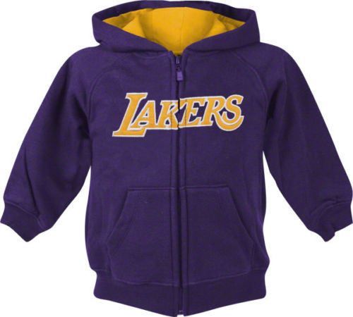 amazing selection detailed images los angeles Los Angeles Lakers Adidas Youth Full Zip Hooded Sweatshirt Purple