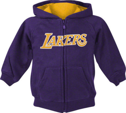 Los Angeles Lakers Adidas Youth Full Zip Hooded Sweatshirt Purple