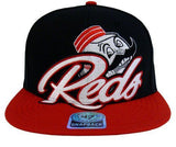 Cincinnati Reds 47 Dunk Retro Snapback Cap Hat Blk Red