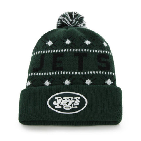 New York Jets Tip Off Pom Top Cuff Knit Hat Beanie