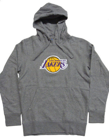 Los Angeles Lakers Mens Sweatshirt Antigua Pullover Hooded Grey