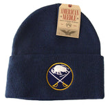 Buffalo Sabres Beanie American Needle Embroidered Folded Ski Cap Navy
