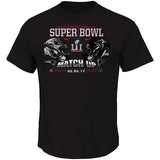 New England Patriots VS. Atlanta Falcons Mens Majestic Dueling Super Bowl LI T-Shirt