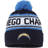 San Diego Chargers Beanie Kids (4-7) Pom Cuff Embroidered Cap Navy