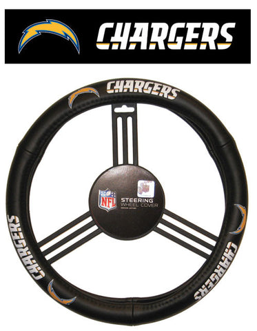 Los Angeles Chargers Auto Leather Steering Wheel Cover