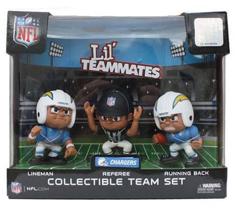 San Diego Chargers Collectible Lil' Teammates Set of 3