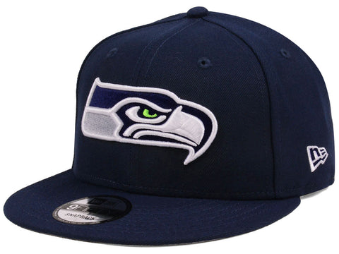 Seattle Seahawks Snapback New Era Team Basic Cap Hat Navy