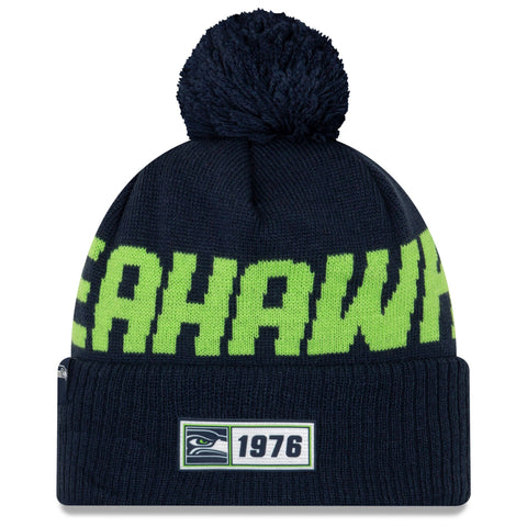 Seattle Seahawks Beanie New Era 2019 NFL Sideline Road Sport Knit Hat