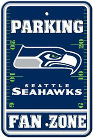"Seattle Seahawks Plastic 12""x18"" Team Fan Zone Parking Sign"