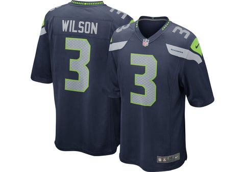 Seattle Seahawks Youth Jersey Nike #3 Wilson 8-20 Game Replica Navy