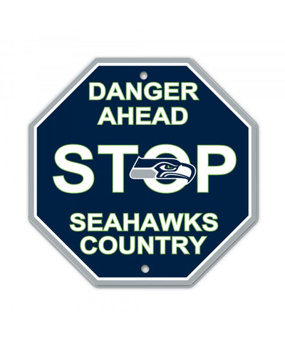 Seattle Seahawks Bar Home Decor Plastic Stop Sign