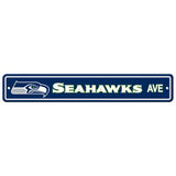Seattle Seahawks Ave Bar Home Decor Plastic Street Sign
