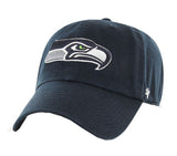 Seattle Seahawks Strapback '47 Brand Clean Up Adjustable Cap Hat Navy