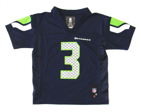 Seattle Seahawks #3 Wilson Toddler 2T-4T Navy Name & Number Jersey