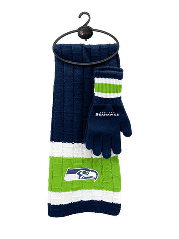 Seattle Seahawks NFL Scarf & Glove Gift Set