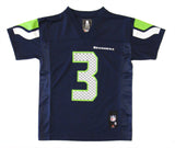 Seattle Seahawks Youth Jersey NFL #3 Wilson 8-20 Navy Name & Number