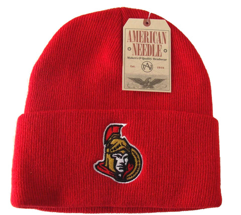 Ottawa Senators Embroidered Folded Beanie Ski Cap Red