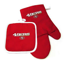 SF 49ers Oven Mitt and Pot Holder