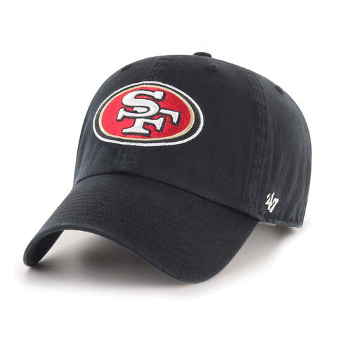 San Francisco 49ers Strapback 47 Brand Clean Up Adjustable Cap Hat Black