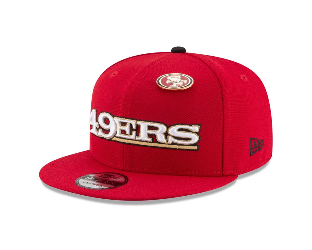 14c954c60 San Francisco 49ers Snapback New Era 9Fifty Pinned Red – THE 4TH QUARTER