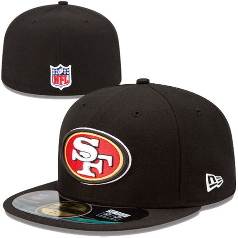 4f92d90e5b738 San Francisco 49ers Kids Fitted New Era On Field Cap Hat Black