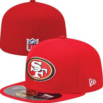 San Francisco 49ers Fitted New Era On Field Cap Hat Red