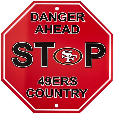 San Francisco 49ers Bar Home Decor Plastic Stop Sign