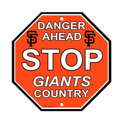 San Francisco Giants Bar Home Decor Plastic Stop Sign