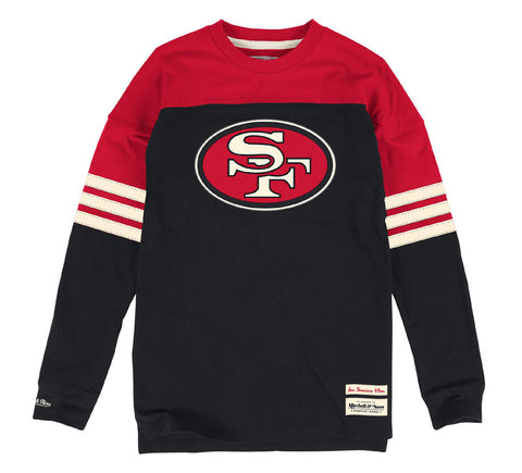 San Francisco 49ers Men's Mitchell & Ness Pump Fake Long Sleeve T-Shirt Black
