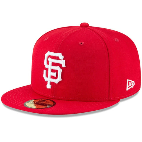 San Francsico Giants Fitted New Era 59FIFTY White Logo Red Cap Hat