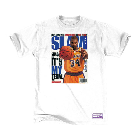 Los Angeles Lakers Mens T-Shirt Mitchell & Ness Shaquille O'Neal Slam Cover