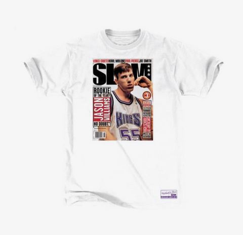 Sacramento Kings Mens T-Shirt Mitchell & Ness Jason Williams Slam Cover