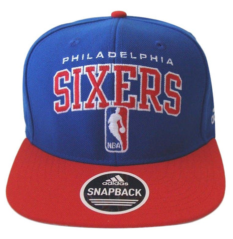 Philadelphia 76ers Snapback Adidas Draft Cap Hat Blue Red