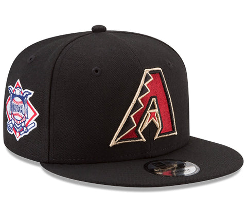 Arizona Diamondbacks Snapback New Era Baycik Cap Hat Black