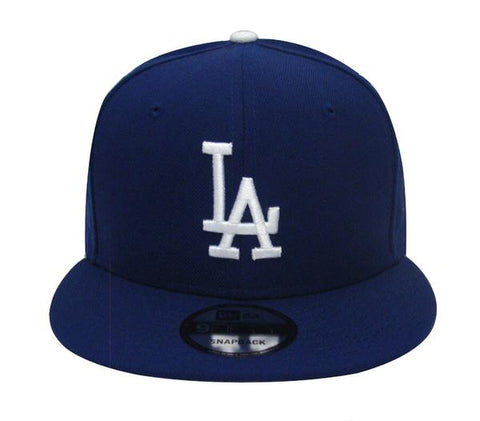 Los Angeles Dodgers Youth Snapback New Era Logo Script on Back Cap Hat Blue