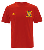 Spain Men's Adidas #15 Sergio Ramos Player T-Shirt