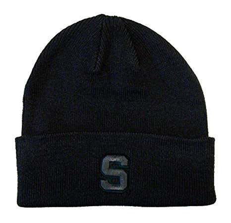 Michigan State Spartans Zephyr Pop Knit Fold Beanie Charcoal Gray