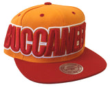 Tampa Bay Buccaneers Snapback Mitchell & Ness Big Block Cap Orange Red