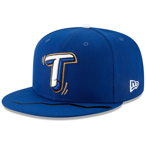 Rancho Cucamonga Temblores Fitted New Era 59Fifty Blue Hat Cap