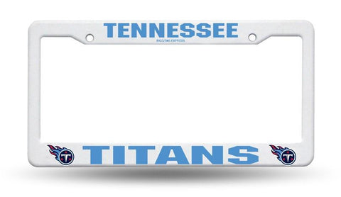 Tennessee Titans White Plastic License Plate Frame