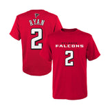Atlanta Falcons Youth #2 Matt Ryan Mainliner Name & Number T-Shirt Red