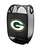 Green Bay Packers NFL Pop-Up Laundry Hamper Black