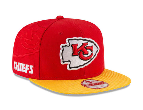 Kansas City Chiefs Snapback New Era OG Fit 2016 On-Field Cap Hat Red Yellow