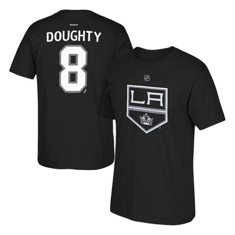 Los Angeles Kings Mens Reebok #8 Doughty Name and Number Player T-Shirt Black