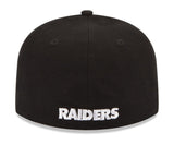 Oakland Raiders Fitted New Era 59Fifty Logo Cap Hat Black Grey