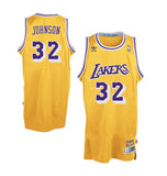Los Angeles Lakers Mens Jersey Adidas #32 Magic Johnson Swingman Yellow