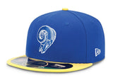 Los Angeles Rams Fitted Kids New Era On-Field Classic Cap Hat Blue Yellow