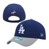 Los Angeles Dodgers Adjustable New Era The League Velcro Cap Hat Blue Grey